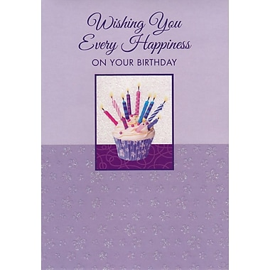 Cartes de souhaits, « Wishing You Every Happiness On Your Birthday », 18/paquet