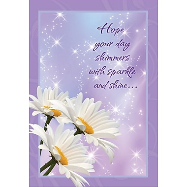 Cartes de souhaits, « Hope Your Birthday Shimmers with Sparkle and Shine », paquet de 18