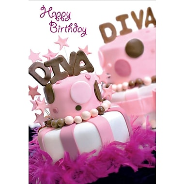 Greeting Cards, Happy Birthday Diva, 18/Pack