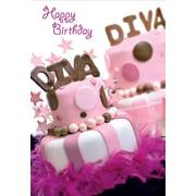 Greeting Cards, Happy Birthday Diva, 18/Pack