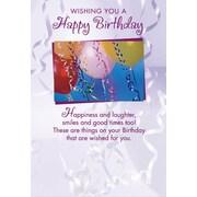 Cartes de souhaits, « Wishing You A Happy Birthday », ballons, 18/paquet