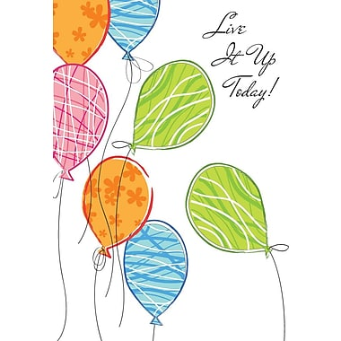 Greeting Cards, Live It Up Today Birthday, 18/Pack
