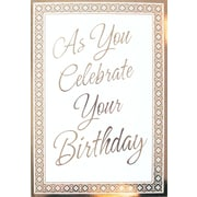 Cartes de souhaits, « As You Celebrate Your Birthday », 18/paquet