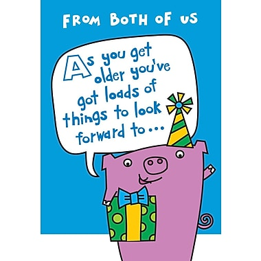 Greeting Cards, From Both of Us Happy Birthday, Humourous 18/Pack