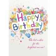 Greeting Cards, Happy Birthday, Balloons & Confetti, 18/Pack