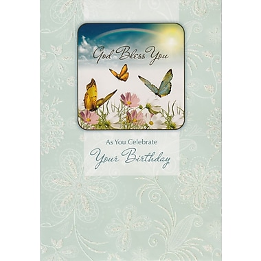 Greeting Cards, God Bless You As You Celebrate Your Birthday, 18/Pack