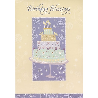 Greeting Cards, Birthday Blessings, 18/Pack