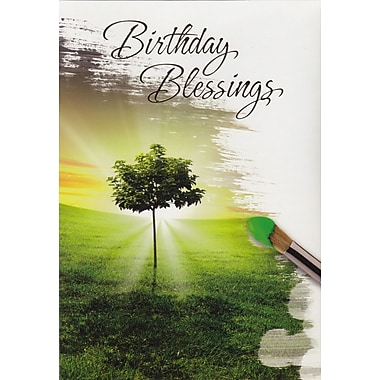 Cartes de souhaits, « Birthday Blessings », nature, paquet de 18