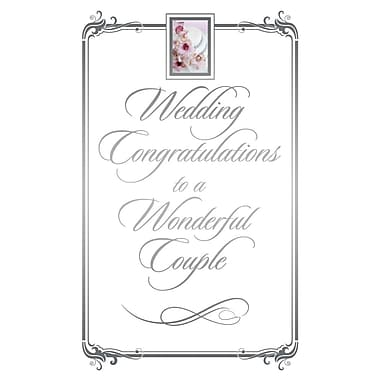 Cartes de souhaits, « Wedding Congratulations, Start of Wonderful Things », 18/paquet