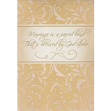 Greeting Cards, Marriage is a Scared Bond That is Blessed by God Above, 18/Pack