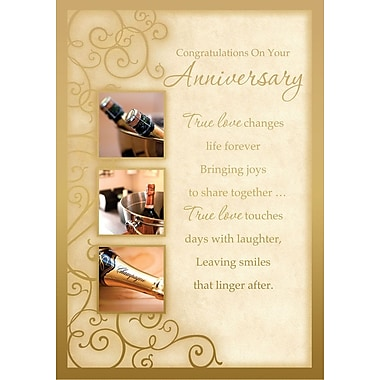 Greeting Cards, Congratulations On Your Anniversary, 18/Pack