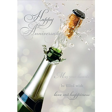Greeting Cards, Happy Anniversary, Champagne, 18/Pack