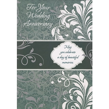 Cartes de souhaits, « on Your Wedding Anniversary », 18/paquet