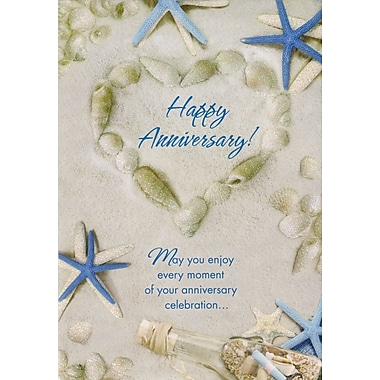 Greeting Cards, Happy Anniversary, Seashells, 18/Pack