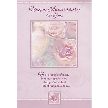 Cartes de souhaits, « Happy Anniversary to You », 18/paquet