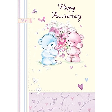 Greeting Cards, Happy Anniversary, Bears, 18/Pack