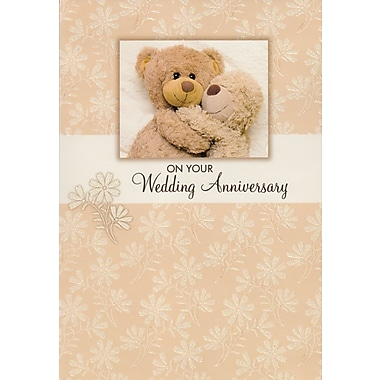 Cartes de souhaits, « On Your Wedding Anniversary », ours en peluche, 18/paquet