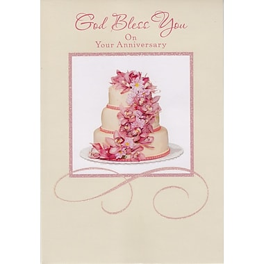 Greeting Cards, God Bless You On Your Anniversary, 18/Pack