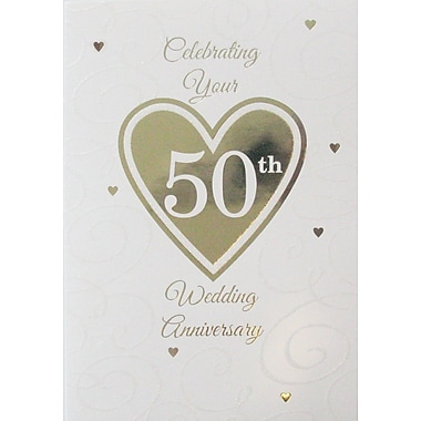 Greeting Cards, Celebrating Your 50th Wedding Anniversary, 18/Pack
