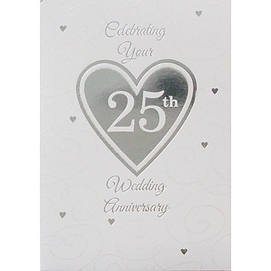 Greeting Cards, Celebrating Your 25th Wedding Anniversary, 18/Pack