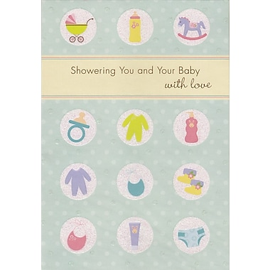 Carte porte-cartes, Une pluie d'amour pour vous et votre bébé, 18/paquet