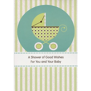 Carte porte-cartes, « A Shower of Good Wishes For You and Your Baby », 18/paquet
