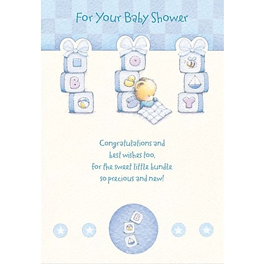 Greeting Cards, For Your Baby Shower, Wishing you every joy, 18/Pack
