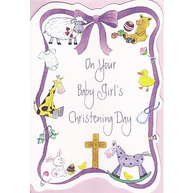 Greeting Cards, On Your Baby Girl's Christening Day, 18/Pack
