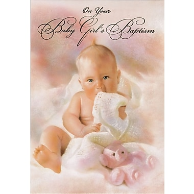 Greeting Cards, Celebrating the Christening of Your Baby Girl, 18/Pack