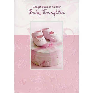 Greeting Cards, Congratulations on Your Baby Daughter, 18/Pack