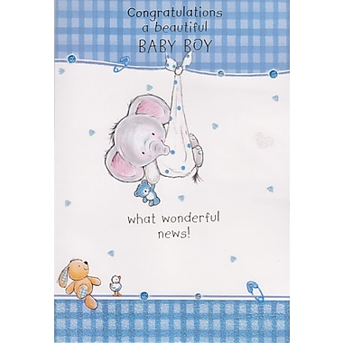 Greeting Cards, Congratulations a Beautiful Baby Boy, 18/Pack