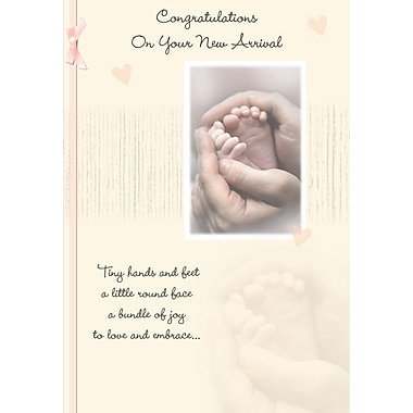 Cartes de souhaits, Félicitations pour votre nouveau-né, 18/paquet