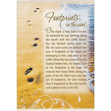Greeting Cards, Footprints, Traditional, 18/Pack