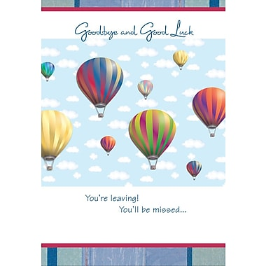 Greeting Cards, Goodbye and Good Luck, 18/Pack