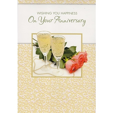 Greeting Cards, Wishing You Happiness On Your Anniversary, 18/Pack