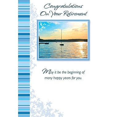 Greeting Cards, Congratulations On Your Retirement, 18/Pack