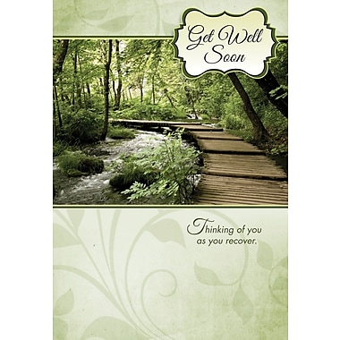 Greeting Cards, Get Well Soon, Nature, 18/Pack