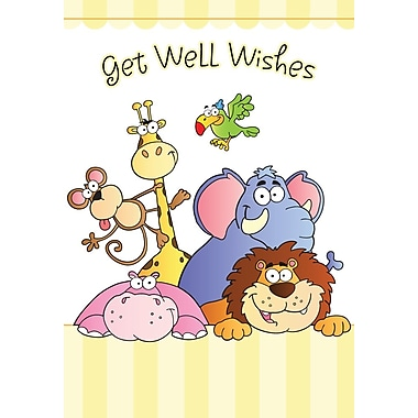 Greeting Cards, Get Well Wishes, 18/Pack