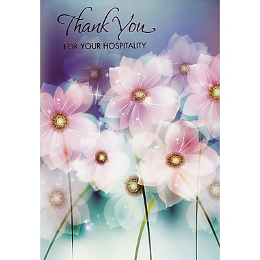 Greeting Cards, Thank You For Your Hospitality, Flowers, 18/Pack