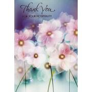 Cartes de souhaits, Merci pour votre hospitalité, fleurs, 18/paq.