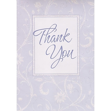 Greeting Cards, Thank You, Lavender, 18/Pack