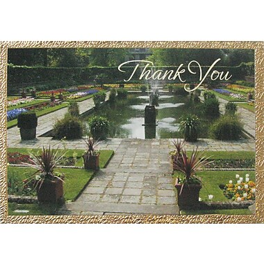 Greeting Cards, Thank You, Water Fountain, 18/Pack