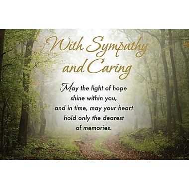 Greeting Cards, With Sympathy and Caring, 18/Pack