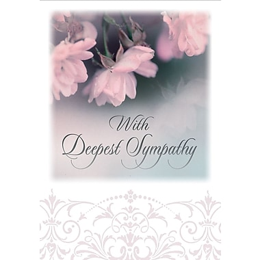 Greeting Cards, With Deepest Sympathy, Sincere thoughts, 18/Pack