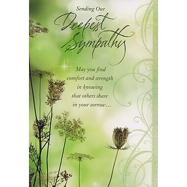 Cartes de souhaits, Nous vous offrons nos sincères condoléances, 18/paquet