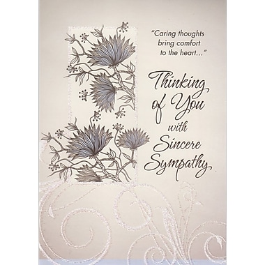 Greeting Cards, Thinking of You with Sincere Sympathy, 18/Pack