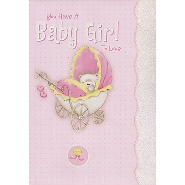 Greeting Cards, You Have A Baby Girl To Love, 18/Pack