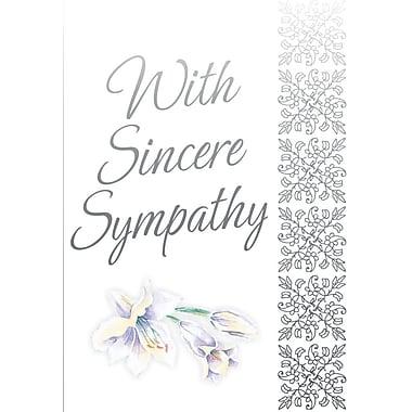 Cartes de souhaits, De sincères condoléances, 18/paquet
