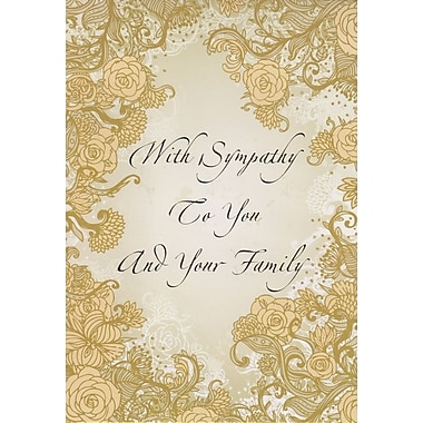 Greeting Cards, With Sympathy To You and Your Family, 18/Pack