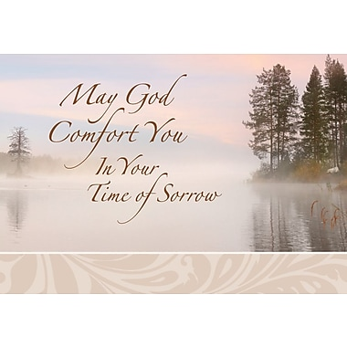 Greeting Cards, May God Comfort You In Your Time of Sorrow, 18/Pack